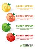 Постепенный дизайн Eco с яблоком элементов в естественных цветах Стоковое фото RF