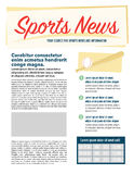 Постраничный макет новостей спорт Стоковые Фотографии RF