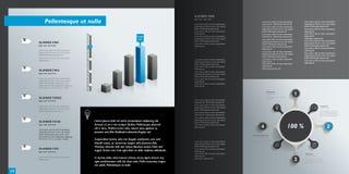 Постраничный макет Infographics иллюстрация вектора