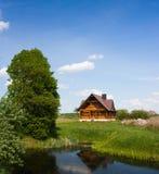 построенная дом деревянная Стоковая Фотография RF