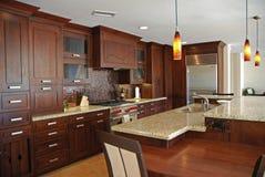 построенная изготовленная на заказ кухня Стоковая Фотография RF