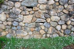 построенная каменная превосходная стена Стоковое фото RF