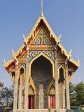 Построенная новая часовня в виске, Бангкоке, Таиланде Стоковые Изображения RF