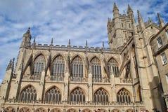 построенное здание ванны аббатства покрасило камень меда Англии исторический используя Стоковое Изображение