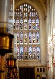 построенное здание ванны аббатства покрасило камень меда Англии исторический используя Стоковые Фотографии RF