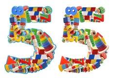 5 построенный от деревянных игрушек Стоковая Фотография RF