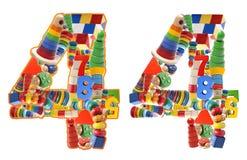 4 построенный от деревянных игрушек Стоковое фото RF
