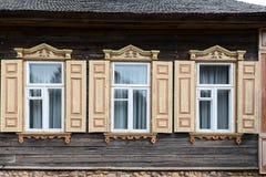 1850 1890 построенных зданием окон фасада Стоковые Изображения
