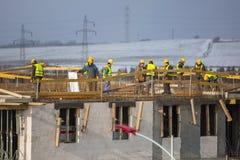 Построители работая на конструкции Стоковые Изображения RF