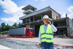 Построитель инженера на строительной площадке Стоковое Изображение RF