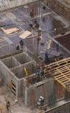 Построители на здании занятый Стоковое Изображение