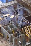 Построители на здании занятый Стоковые Изображения RF
