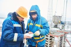 Построители работников на строительной площадке Стоковые Фото