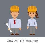Построители характеров Стоковые Изображения