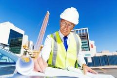 Построитель инженера на строительной площадке Стоковые Изображения RF