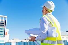 Построитель инженера на строительной площадке Стоковые Фотографии RF