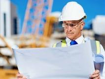 Построитель инженера на строительной площадке Стоковое Изображение