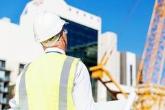 Построитель инженера на строительной площадке Стоковая Фотография RF