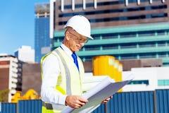 Построитель инженера на строительной площадке Стоковые Изображения