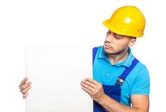 Построитель - рабочий-строитель Стоковая Фотография RF