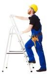 Построитель человека в голубой форме Стоковая Фотография RF