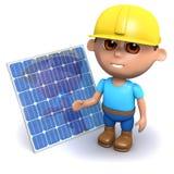 построитель 3d с панелью солнечных батарей Стоковое Изображение
