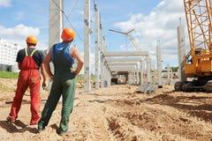 2 построителя на строительной площадке Стоковое фото RF