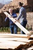 2 построителя нося над самолетом Стоковое Изображение RF