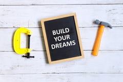 Построьте ваши мечты Стоковое Изображение RF
