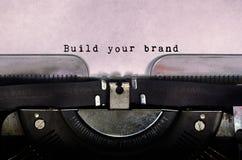 Построьте ваш бренд стоковая фотография rf