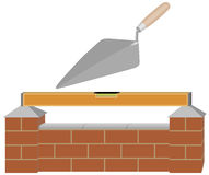 построьте стену иллюстрация вектора