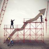 Построьте успех в бизнесе Мультимедиа стоковые изображения rf