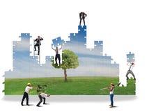 Построьте чистый мир стоковая фотография rf