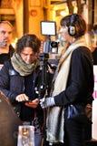 Поступок заволакивания журналиста против насилия рода в Elche стоковая фотография