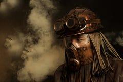 Пост-апоралипсическая футуристическая концепция фантазия Steampunk стоковое изображение rf