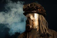 Пост-апоралипсическая футуристическая концепция фантазия Steampunk стоковые изображения