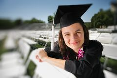 постдипломное счастливое предназначенное для подростков Стоковое фото RF