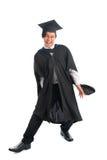 Постдипломный студент университета в ободрении стоковые изображения rf