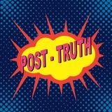 ` Пост-правды ` значка дизайна комиксов искусства шипучки Стоковые Изображения RF