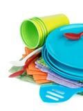 Посуда пикника Стоковые Фото