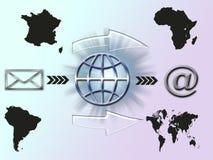 посылка схемы почты e Стоковые Изображения