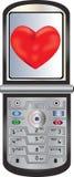 посылка телефона влюбленности клетки Бесплатная Иллюстрация