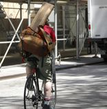 Посыльный велосипеда стоковые изображения