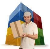 посыльный грузовых контейнеров стоковое фото rf