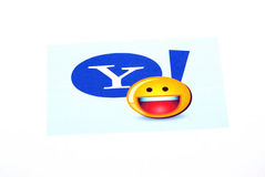 посыльный yahoo логоса стоковая фотография