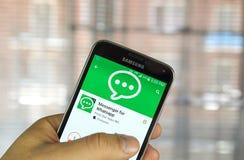Посыльный для Whatsapp стоковая фотография rf