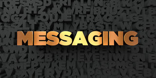 Послание - текст золота на черной предпосылке - 3D представило изображение неизрасходованного запаса королевской власти Стоковые Фото