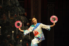 Посланник японского круглого вентилятора- японский второе королевство конфеты поля поступка вторых - Щелкунчик балета Стоковая Фотография