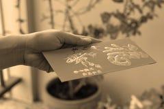 Посланное китайское красное карманн Стоковые Изображения RF