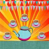 Послеполуденный чай иллюстрация штока